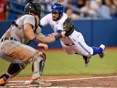 APTOPIX Canada Tigers Blue Jays Baseball