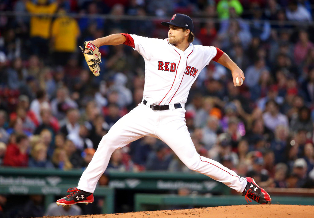 . Boston Red Sox starting pitcher Jalen Beeks delivers to the Detroit Tigers during the third inning of a baseball game at Fenway Park, Thursday, June 7, 2018, in Boston. (AP Photo/Elise Amendola)