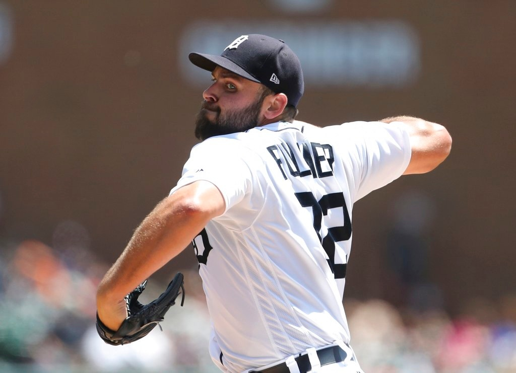 . Detroit Tigers starting pitcher Michael Fulmer throws during the third inning of a baseball game against the Minnesota Twins, Thursday, June 14, 2018, in Detroit. (AP Photo/Carlos Osorio)