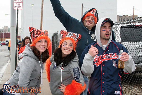 Tigers Party Bus Opening Day 2011