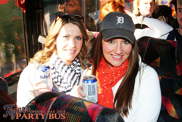 Tigers Party Bus Opening Day 2014