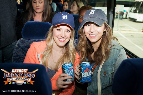 Tigers Party Bus Opening Day