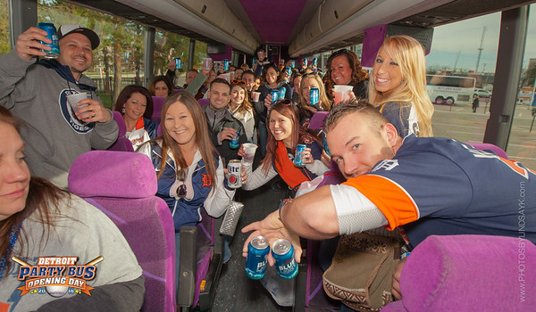 Tigers Party Bus Opening Day 2016