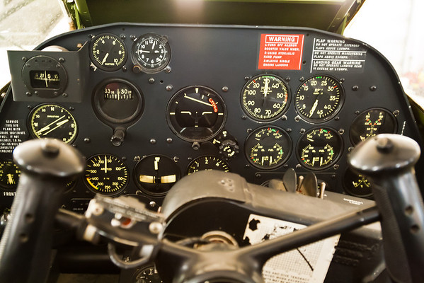 P-38 instrument panel