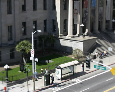 Tiny bus stop, Old US Mint, San Francisco, March 2008