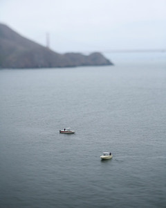 Tiny boats, Point Bonita, October 2009