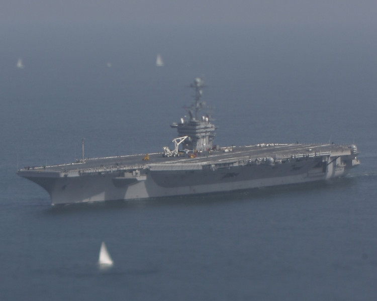 Tiny USS John C. Stennis, San Diego, May 2008<br /> Hard to believe that the ship is actually 1092 feet long, with a 4.5 acre flight deck!