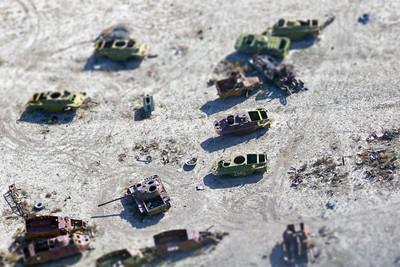Soviet Armored Vehicle Graveyard