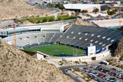 Miner Stadium in Miniature