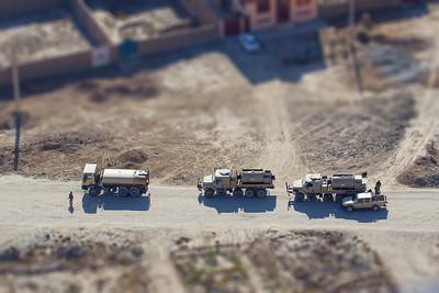 Miniature Afghan Army Convoy