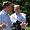 Tim Kaine At Arlington Memorial Bridge Infrastructure Press Conference With Mark Warner In Arlington, VA