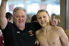 Tim McInnis (Brighton High School Boys Swim Coach) with J.D. Ham at 2012 KLAA Division Championship Meet