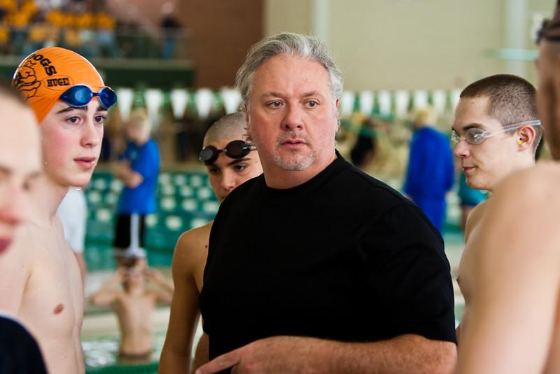 Tim McInnis (BHS Boys Swimming Coach) at 2010 KLAA Division Swim Meet