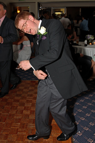 Tim's dad getting the boogie on.
