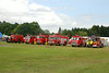 Line up in the Show ground of Fire Engines <br /> <br /> Left to right <br /> <br /> from WW2 / 1950's / 1960's / 1970's / 1980's / 1990's