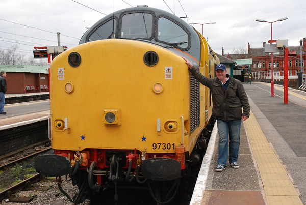 2nd of April 2010  Geoff Bell gets in on the act as well   97301 was working Serco Route Learning trips between Warrington Bank Quay & Wigan North Western all day