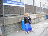 16th June 2011 <br /> <br /> Liz at a very windy<br /> <br />  Rotherham central