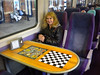 16th June 2011 <br /> <br /> Liz sits on the 180 101 <br /> <br /> waiting to depart Doncaster <br /> <br /> on Grand Central