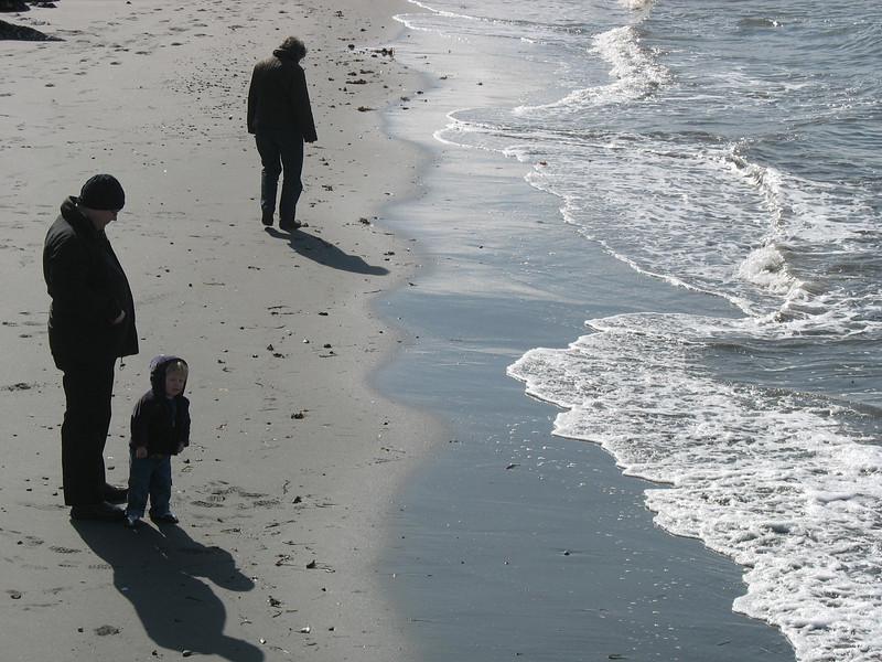 Ausflug zum Alki Beach mit Oma