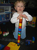 Bunter Lego-Turm, selbstgebaut
