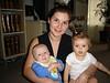 Nicole mit Tim und Lena