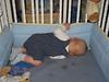 Seltsame Schlafposition