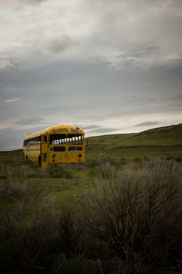 School Bus near Washtucna, WA