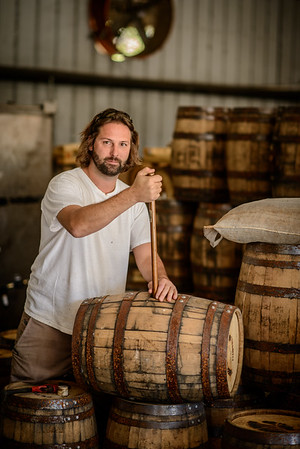 Aaron Testing Bourbon at TImber Creek Distillery