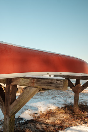 Snow On Our Canoe