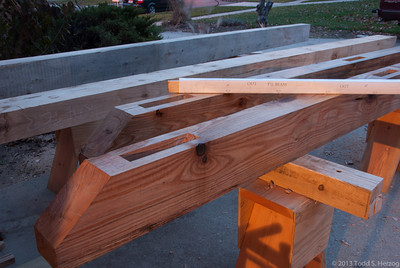 The Tie Beams are done!