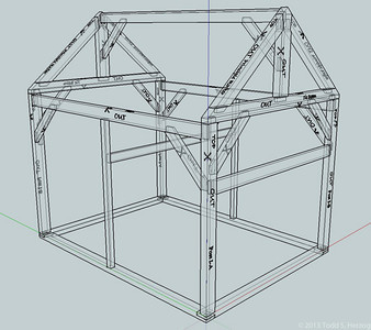 This xray isometric shows all the joints detail that has to be cut.