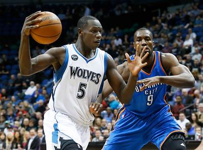 Timberwolves play Oklahoma City