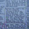 Classified ad for an estate sale in Raytown, Mo. to open at 11:11 AM. Photo made @ 08:14:43, 11.11.11.