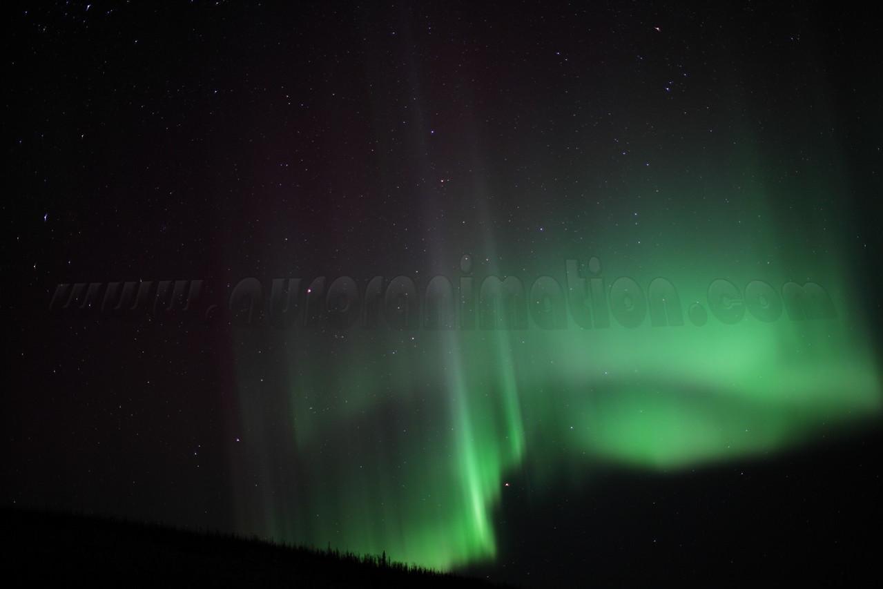Northern Lights on March 7 2013 - White Mountains, Alaska