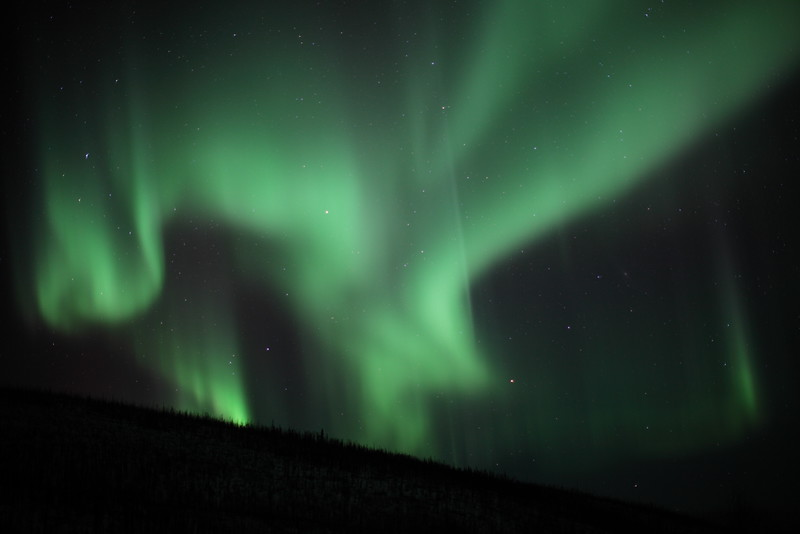 Auroras over the White Mountains - Alaska, March 7 2013