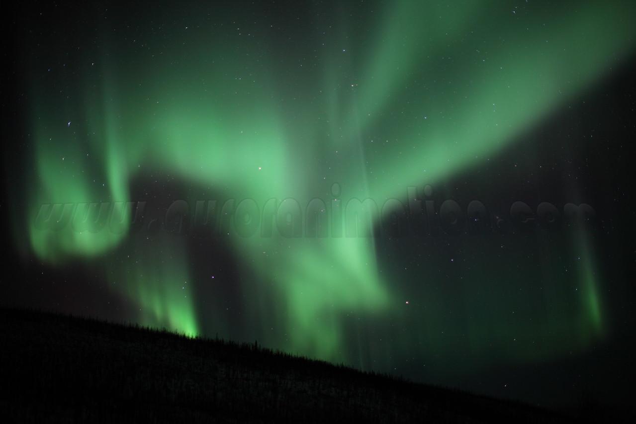 Auroras over the White Mountains - Alaska, March 7 2013