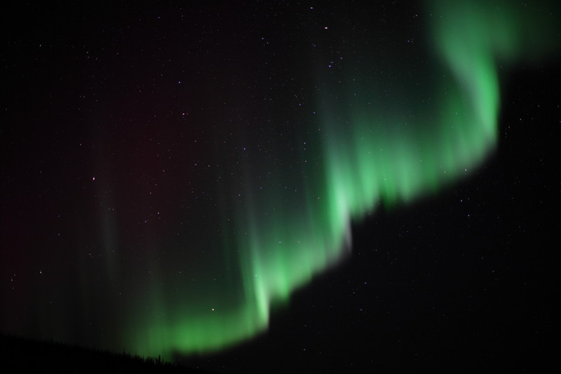 Northern Lights over the White Mountains, Alaska