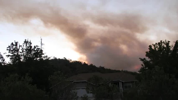 Lobo Fire, Nevada County, 2018. Time lapse of the smoke