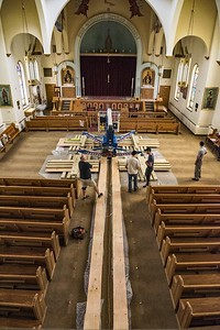 Holy Trinity Armenian Church - Man-Lift Removal From Sanctuary