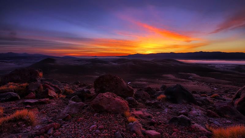 Volcanic Landscape Sunrise