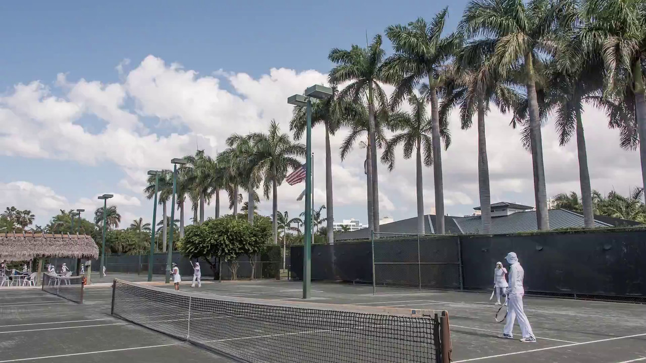 Royal Palm tennis Court-Miami - time lapse