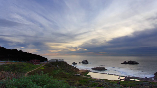 Sutro Baths and Cliff House Sunset