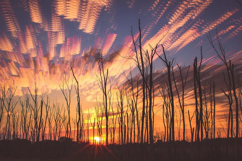Summer Solstice Sunset Stack