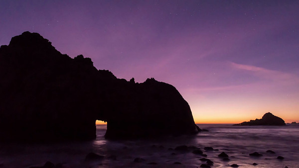 Milky Way at Pfeiffer Beach, Big Sur (2012)