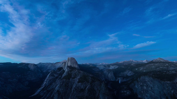 Half Dome lit by moon from Glacier Point, Yosemite NP (2013)