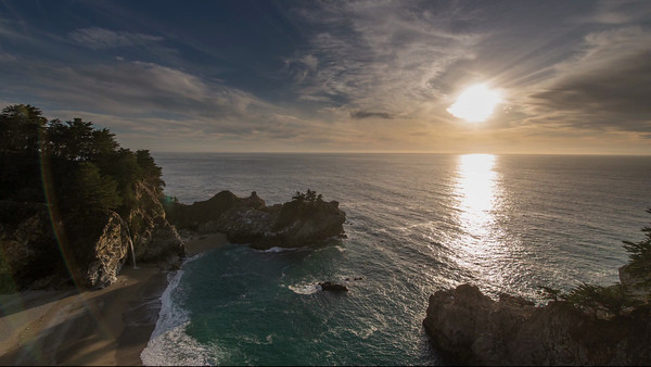 Sunset at Mc Way Falls in Big Sur (2012)