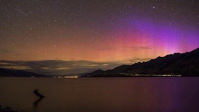 Southern Lights Above Wanaka