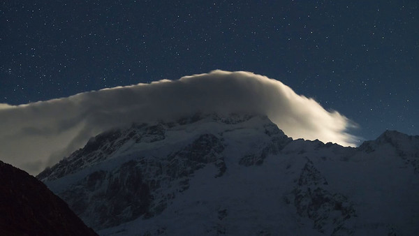 Cloud Rolling Over Mount Sefton