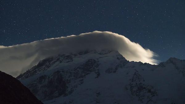 Cloud Rolling Over Mount Sefton