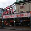 Historic Pike Place farmers market sign
